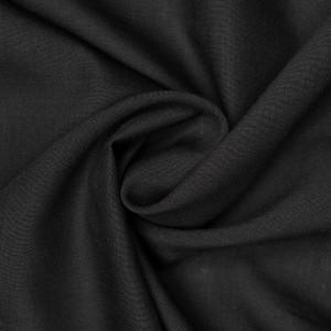 Ткань плательная 130 г/м2, цвет черный (9424)