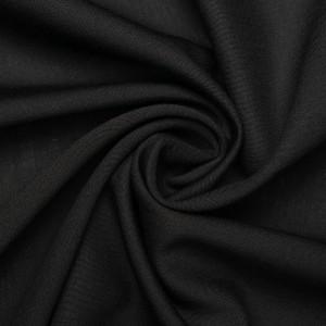 Шелк плательный 140 г/м2, цвет черный (9443)