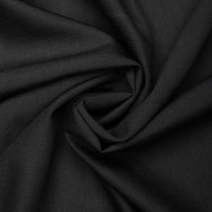 Ткань плательная 110 г/м2, цвет черный (9436)