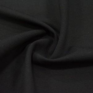 Джерси вискоза 445 г/м2, цвет черный (10112)