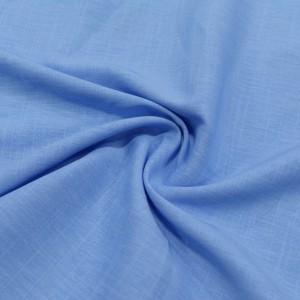 Лен Рубашечный 110 г/м2, цвет голубой (10007)