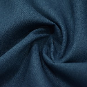Лён Костюмный 190 г/м2, цвет синий (10010)