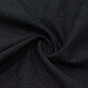 Лен Рубашечный 110 г/м2, цвет черный (10013)