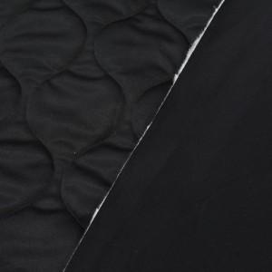 Стеганая ткань курточная 445 г/м2, цвет черный (10001)