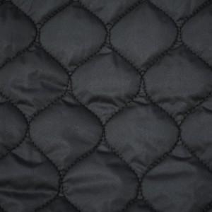 Стеганая ткань курточная 210 г/м2, цвет черный (10002)
