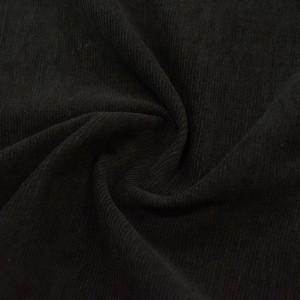 Вельвет с метнитью 220 г/м2, цвет черный (10042)