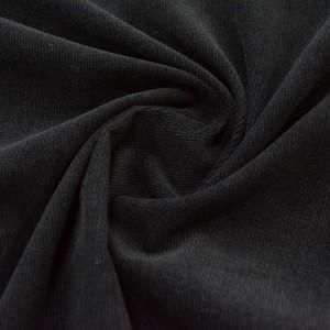Микровельвет 195 г/м2, цвет черный (10043)