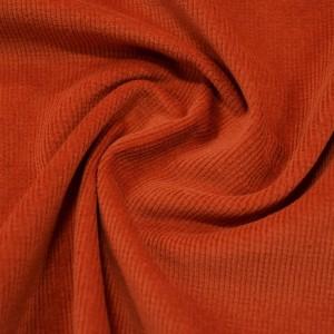 Вельвет стрейч 295 г/м2, цвет оранжевый (10044)