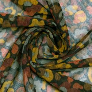 Сетка трикотажная принтованная 50 г/м2, узор цветочный (9833)