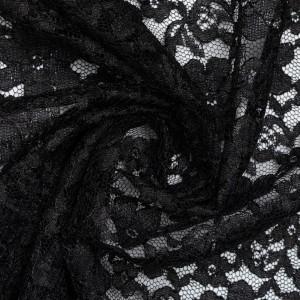 Гипюр 110 г/м2, цвет черный (9823)