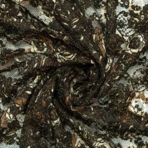 Гипюр стрейч с люрексом 100 г/м2, цвет коричневый (9819)