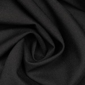 Костюмная ткань 220 г/м2, цвет черный (9739)