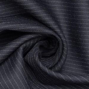 Костюмная ткань 235 г/м2, узор полоска (9737)