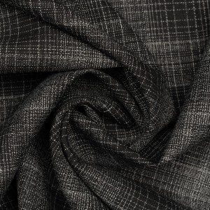 Плательная ткань 145 г/м2, цвет черный (9733)