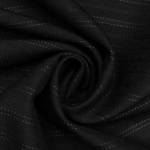 Костюмная ткань 165 г/м2, цвет черный (9720)