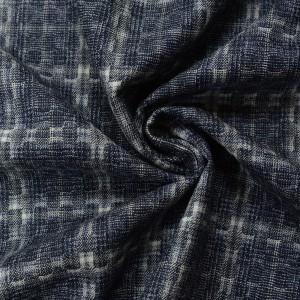 Шерсть костюмная 270 г/м2, узор клетка (9803)