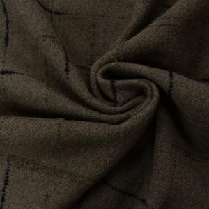 Шерсть пальтовая 400 г/м2, узор геометрический (9801)