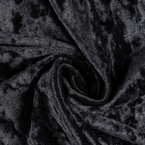Бархат Aldabra NERO 210 г/м2, цвет черный (9516)