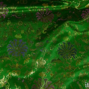 Парча цвет зеленый