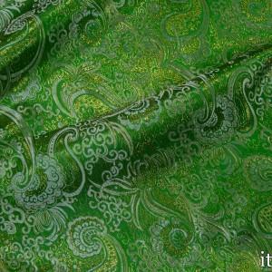 Парча, цвет зеленый (8162)