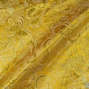 Парча, цвет желтый (8160)