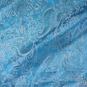 Парча, цвет голубой (8154)
