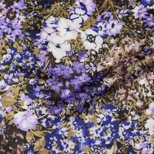 Ткань Атлас Принт, узор цветочный (5551)