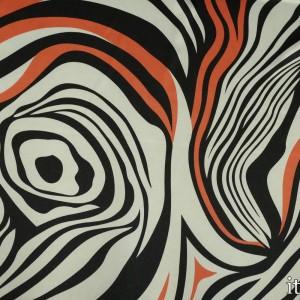 Ткань Атлас Принт, узор абстрактный (5613)