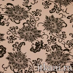 Ткань хлопковая костюмная, узор цветочный (2225)