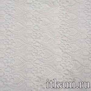 Ткань Кружево, цвет белый (3227)