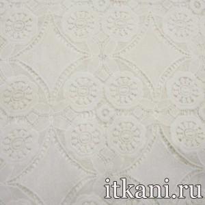Ткань Кружево, цвет молочный (3233)
