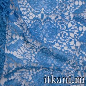 Ткань Кружево, цвет синий (3239)