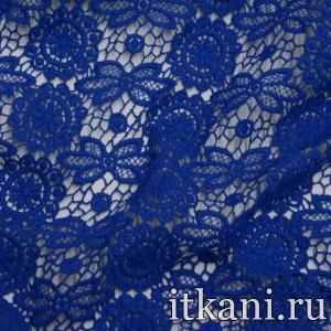 Ткань Кружево, цвет синий (3242)