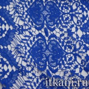 Ткань Кружево, цвет синий (3243)