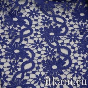 Ткань Кружево, цвет синий (3245)