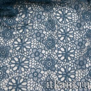 Ткань Кружево, цвет синий (3246)