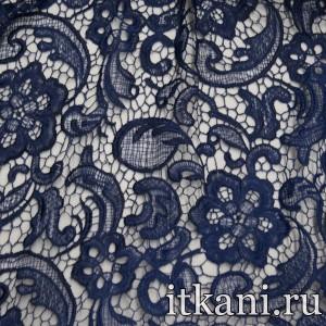 Ткань Кружево, цвет синий (3248)