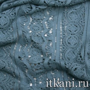 Ткань Кружево, цвет голубой (3251)