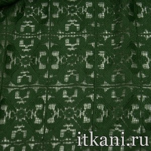 Ткань Кружево, цвет зеленый (3272)