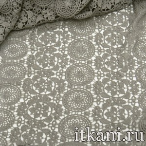 Ткань Кружево, цвет серый (3273)