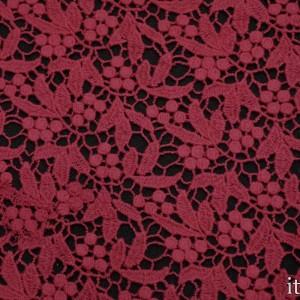 Ткань Гипюр Кружево, цвет красный (5741)