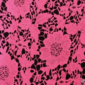 Ткань Гипюр Кружево, цвет розовый (5754)
