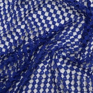 Ткань Гипюр Кружево, цвет синий (5765)