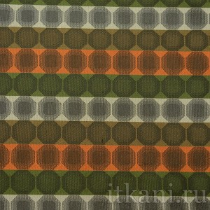 "Ткань Жаккард оранжево-зеленого цвета ""Присцилла"""