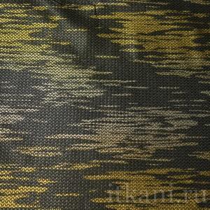 """Ткань Жаккард черный с золотым """"Рита"""", узор абстрактный (1117)"""