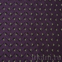 """Ткань Жаккард черно-фиолетовая с белым """"Шеннон"""""""