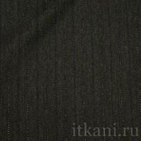 """Ткань Костюмная темно-серая в полоску """"Тина"""""""