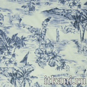 Ткань Курточная, узор цветочный (2457)