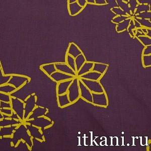 Ткань Лен, узор цветочный (1713)