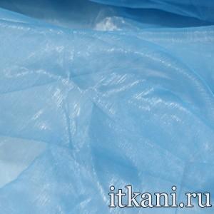 Ткань Органза, цвет голубой (3428)
